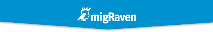 Logo der migRaven GmbH - bitte wählen Sie Bilder anzeigen bzw. herunterladen